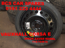 VAUXHALL CORSA E SPACE SAVER  STEEL WHEEL INC TYRE  115/70/R16 Continental